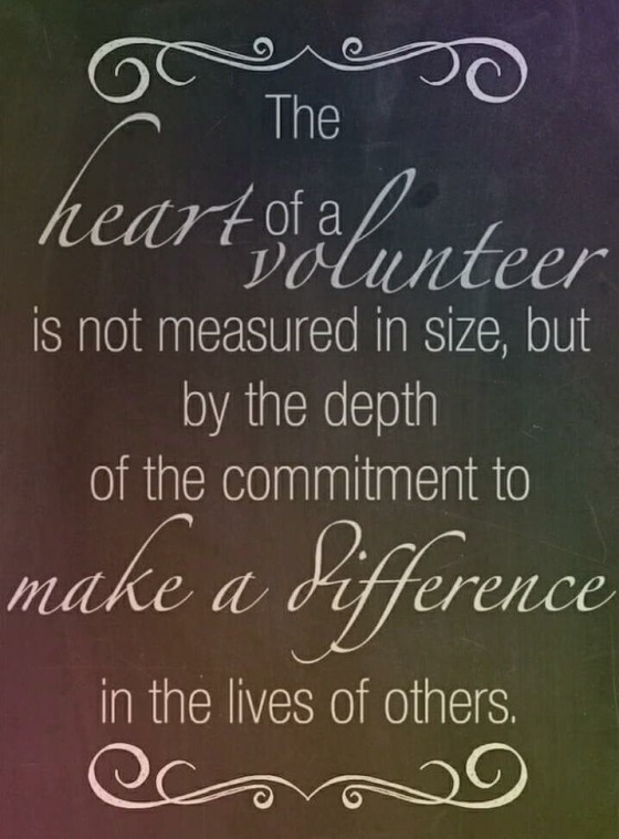 Hospice volunter saying